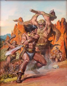 SAVAGE SWORD OF CONAN #188 COVER PAINTING