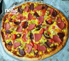 Pizza Tarifi #pizzatarifi #pizzatarifleri #nefisyemektarifleri #yemektarifleri #tarifsunum #lezzetlitarifler #lezzet #sunum #sunumönemlidir #tarif #yemek #food #yummy Hawaiian Pizza, Food And Drink, Model, Models, Template, Modeling, Mockup