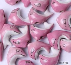 20x14mm Porcelain Charms Pink Dolphin Jewelry Necklaces Making Findings Beads http://www.eozy.com/20x14mm-porcelain-charms-pink-dolphin-jewelry-necklaces-making-findings-beads