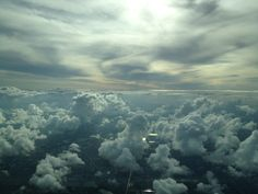 Sky over Miami during evening arrival april 9th 2013