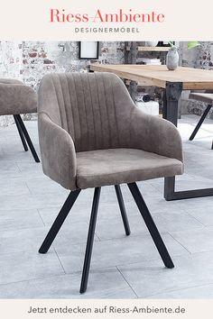 Zeitloses Design und Sitzkomfort gehören bei diesem Stuhl im angesagten Retro-Look einfach zusammen. Die bequeme Sitzschale in einem schönen Grauton wird von vier stabilen Metallbeinen getragen, die dem Stuhl durch ihre abgespreizte Form einen Hauch von Retro verleihen. Die elegante Kombination aus dem hellen Taupe-Grau und dem Schwarz der Beine passt in jedes Ambiente und lässt sich wunderbar mit verschiedenen Farben und Stilen kombinieren. Lucca, Retro Look, Elegant, Sideboard, Form, Armchair, Furniture, Design, Home Decor