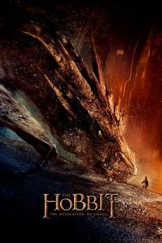 The Hobbit: The Desolation of Smaug - movie poster. I love love love Smaug.