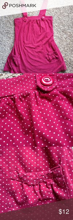 Eyeshadow Tunic Red with white polka dots and 2 pockets on the side. Eyeshadow Tops Tunics
