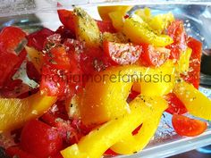 Peperoni al microonde Microwave Recipes, Fruit Salad, Healthy Eating, Cooking, Food Ideas, Anna, Bar, Microwaves, Contouring