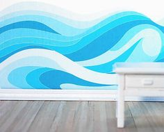 Hey, I found this really awesome Etsy listing at https://www.etsy.com/listing/173968657/ocean-waves-traceable-wall-mural-pattern
