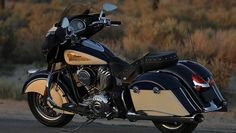 2015 Indian Chieftain Springfield Blue & Ivory Cream Motorcycle : Overview