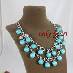 Free Shippingc green Turquoise Necklace 2022inch by OnlyPearl