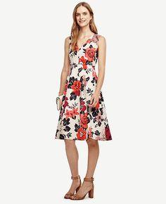 Image of Sundrenched Floral Flare Dress