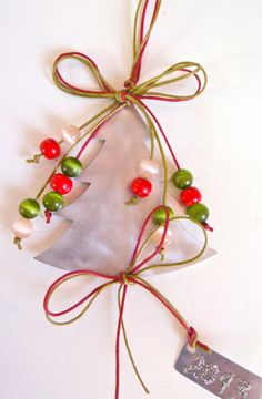 Aluminum tree ornament with included gift box by kartforchristmas, $25.00