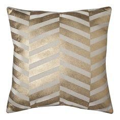 """$24.99  Threshold� Gold Chevron Pillow 18"""" PILLOW"""