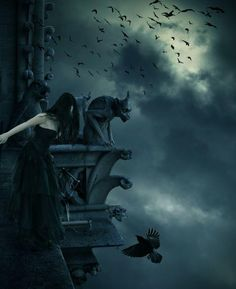 Life As I Know It: Flash Fiction Challenge Feeding Time Gothic Fantasy Art, Fantasy Images, Dark Fantasy, Fantasy Creatures, Mythical Creatures, Magic Realms, Dark Evil, Night Shadow, Dreams And Nightmares