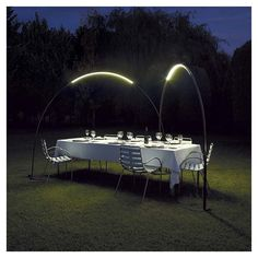 Lampadaire outdoor arc led HALLEY Vibia