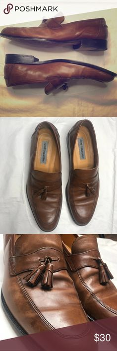 Johnston & Murphy Brown Leather Tassel Loafers Johnston & Murphy Brown Tassel Loafers Size: 9 1/2W Dressy Casual Slip ons Johnston & Murphy Shoes Loafers & Slip-Ons
