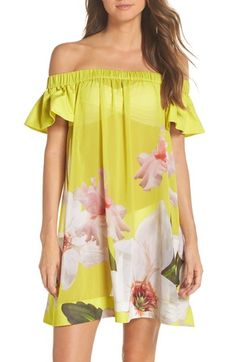 af99e310b3 Women's Ted Baker London Chatsworth Bardot Cover-Up Dress #swimsuitcoverup  #beacwearcoverup #beachdresses