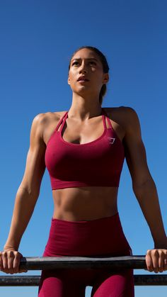 The new Beet Seamless Cross-Back Sports Bra is a beautiful and comfortable addition to any workout, finished with our classic seamless knit.