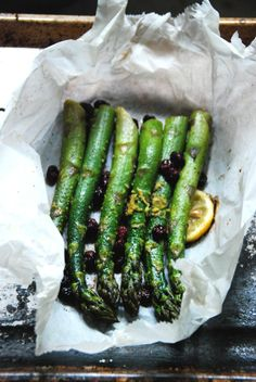 Baked Lemon Asparagus with Cranberries | Al's Kitchen