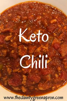 Easy and Delicious Low Carb Keto Chili Hcg Recipes, Diabetic Recipes, Healthy Recipes, Chili Recipes, Clean Eating For Beginners, Keto Diet For Beginners, Slow Cooker Recipes, Cooking Recipes, Crockpot Recipes