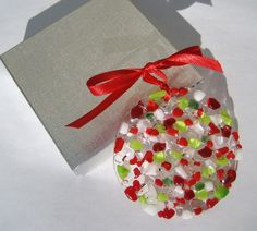 Hard Candy Fused Glass Ornament by NavarroCreations, via Flickr