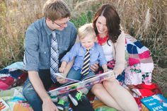 Family Session - Reading Books // SB Childs Photography