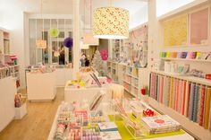 Beautiful boutique in Paris called Adeline klam. Japanese fabrics, origami paper, washi tape and much more!