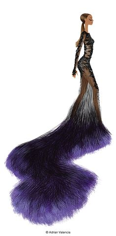 Beyonce @ Met Gala. Drawn by Adrian Valencia. Check him out... http://drawadriandraw.blogspot.com