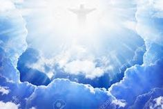 Picture of Jesus Christ in blue sky with clouds, bright light from heaven, resurrection, easter stock photo, images and stock photography. Peaceful Backgrounds, Heaven Images, Blue Sky Clouds, Pictures Of Jesus Christ, Resurrection Day, Spiritual Images, Photo Lighting, Jesus Cristo, Bright Lights