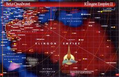klingon | This is a star chart of the entire span of the Klingon Empire located ...