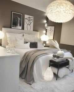 Home Decor Bedroom .Home Decor Bedroom Room Ideas Bedroom, Small Room Bedroom, Home Decor Bedroom, Small Rooms, Master Bedroom, Bedroom Furniture, Queen Bedroom, Ikea Bedroom, Bedroom Wall