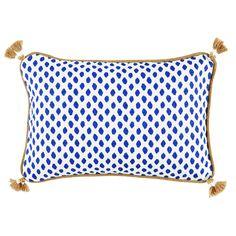 Sahara Midnight Lumbar Pillow with Tassels