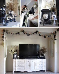 love the dresser/buffet as a tv stand! from whippycake's blog