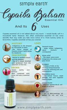 copaiba balsam essential oil uses infographic