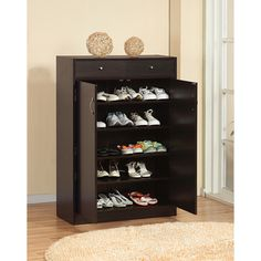 For mudroom in multiples.  $153.  Also in Beech. Five Shelf Shoe Cabinet with Two Upper Storage Bins | Overstock.com Shopping - The Best Deals on Dressers