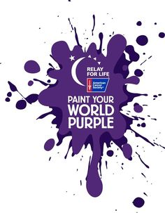 Paint Your World Purple Elt Pic Relay For Life Fundraiser Pinterest 2016 And Cancer
