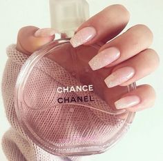 Girly - pink nails. Chanel. Chance. Love parfume