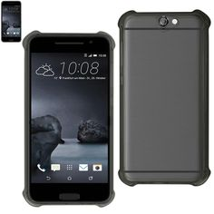 Reiko Htc One A9 Transparent TPU Case With Air Cushion Shock Absorption Technology In Black