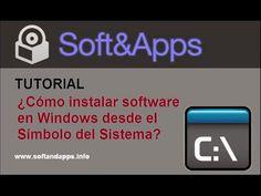¿Cómo instalar software en Windows desde el Símbolo del Sistema?