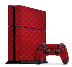 Make your PS4 your own with the Red Carbon Fiber Slickwrap available now at www.Slickwraps.com!
