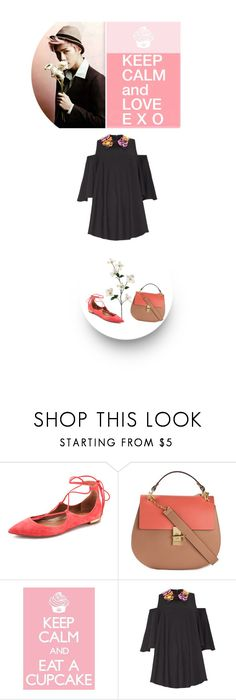 """Keep Calm and Love EXO"" by junglover ❤ liked on Polyvore featuring Aquazzura, Chloé and Marni"