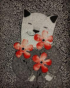 Весеннее настроение всё сильнее и сильнее. И моя кошенька идет на замечательный весенний конкурс мартовских котов от @n_a_l_i_v_k_a @art_pavlova и @peredvizhnik #кот_на_конкурс#рисунок#графика#котикиправятмиром#весна#рисую#люблюкошек#люблюрисовать#живу_рисуя#рисуйкаждыйдень#дудлинг#покажисвоюработу#иллюстрация#скетчбук#открытка#draw#drawoftheday#sketchbook#doodle#graphic#catstagram#illustration#illustrazione#illustragram#sketchbook#doodleart#illustrationoftheday#instacat#spring