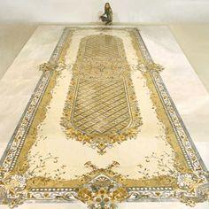 Waterjet carpet medallion