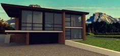 mountain lake house concept
