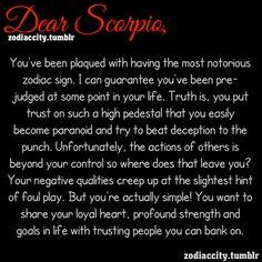 Dear Scorpio.