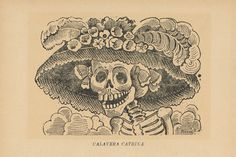 'La Calavera Catrina' is a 1910 zinc etching by Mexican printmaker José Guadalupe Posada.  Once I go to Day of the Dead in Mexico, I want this.
