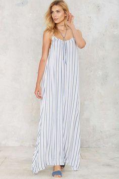 Nasty Gal Doheny Striped Maxi Dress