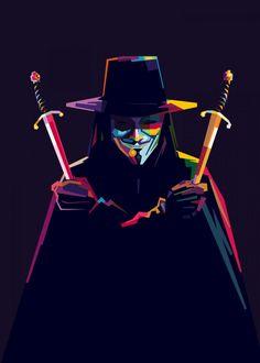 V For Vendetta Poster, V Pour Vendetta, Hacker Wallpaper, Pop Art Wallpaper, V For Vendetta Wallpapers, Der Joker, Pop Art Drawing, Nerd, Light Painting