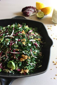 This chopped kale salad recipe is easy to make and so delicious. You'll forget it's healthy and keep craving more!