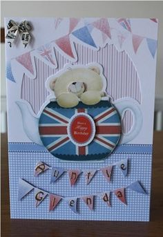 Docrafts Forever Friends Best of British Card Kit Best Of British, Card Kit, Friends Forever, Clock, Cards, How To Make, Ideas, Decor, Dekoration