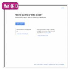 Draft  :  traitement de texte en ligne qui permet de travailler un document à plusieurs en mode collaboratif.
