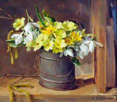 Мобильный LiveInternet Есть, есть душа у каждого цветка... Художница Anne Cotterill. Часть 1.   blu_Marino - Дневник blu Marino  