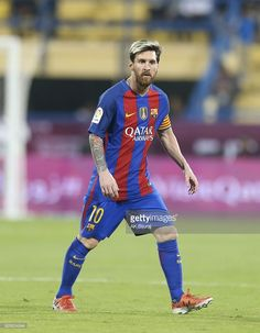 Lionel Messi of Barcelona in action during the Qatar Airways Cup match between FC Barcelona and Al-Ahli Saudi FC on December 13, 2016 in Doha, Qatar.